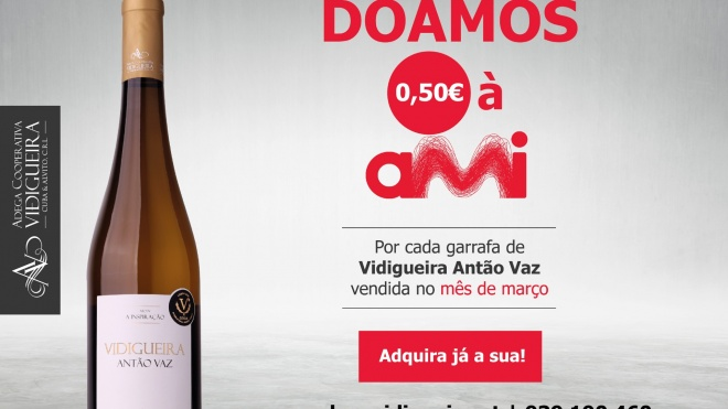 Vidigueira Antão Vaz apoia campanha da AMI