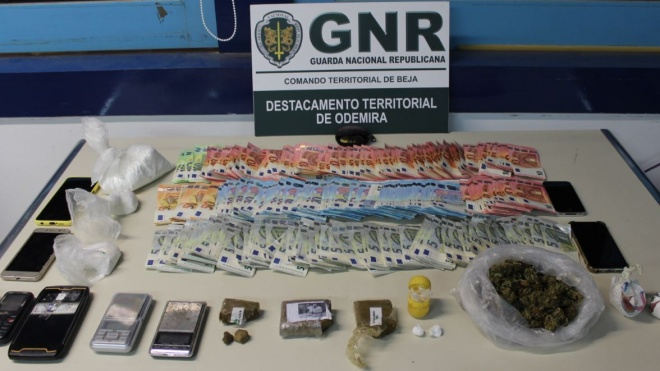 GNR: quatro detidos por tráfico de estupefacientes em Vila Nova de Milfontes