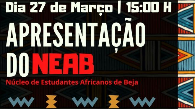 É apresentado hoje o Núcleo de Estudantes Africanos de Beja
