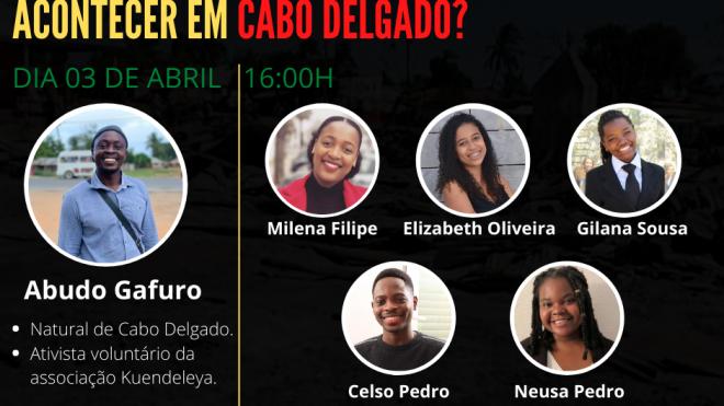 """NEAB: realiza o evento """"Sabes o que está a acontecer em Cabo Delgado?"""