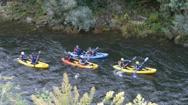 Descida do rio Guadiana em canoa