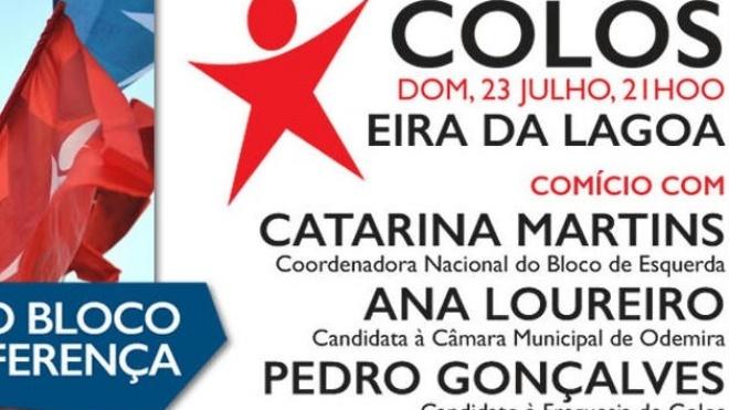Catarina Martins está hoje em Ourique e Odemira