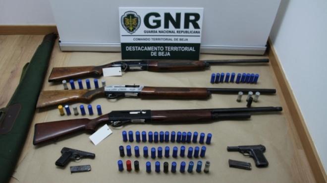 Vidigueira - 4 detidos por posse ilegal de armas