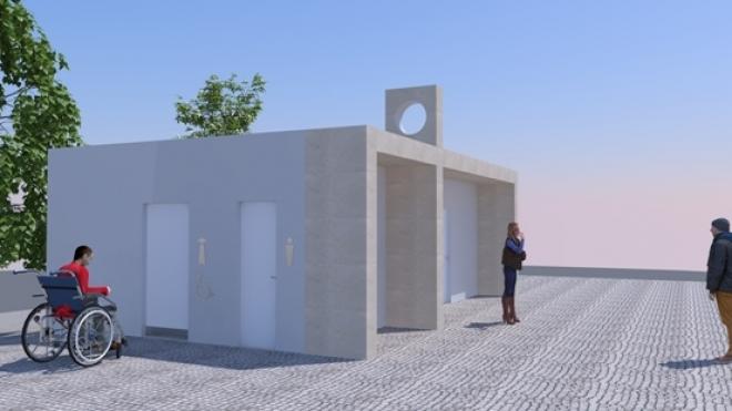 Novo edifício de apoio ao Polidesportivo do Bairro dos Moinhos