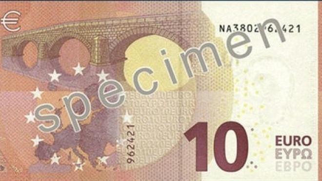 Nova nota de 10 euros entra hoje em vigor