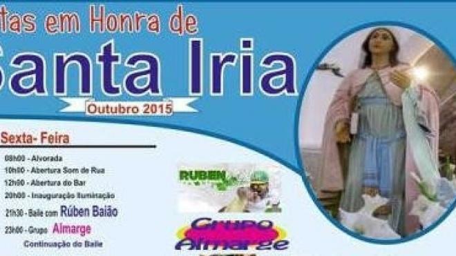 Festas em Honra de Santa Iria até domingo