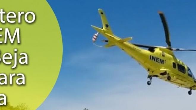 Helicóptero do INEM saiu de Beja e fica em Évora