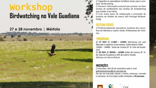 Workshop de Birdwatching no Vale do Guadiana