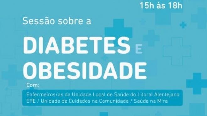 Obesidade e diabetes é tema de conversa hoje em Odemira
