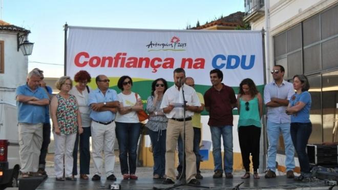 CDU no Penedo Gordo com João Rocha