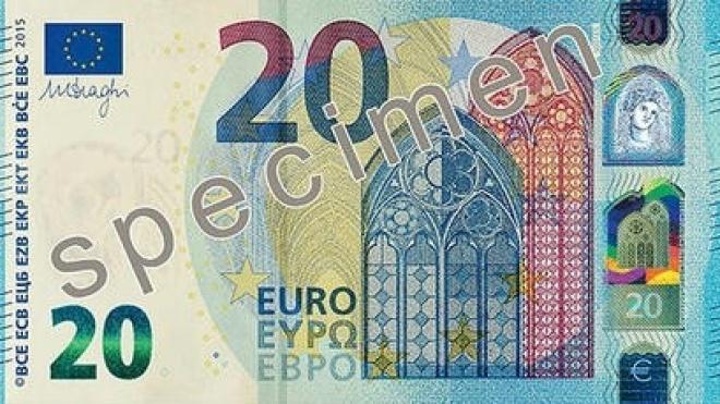 Nova nota de 20 euros entra em circulação