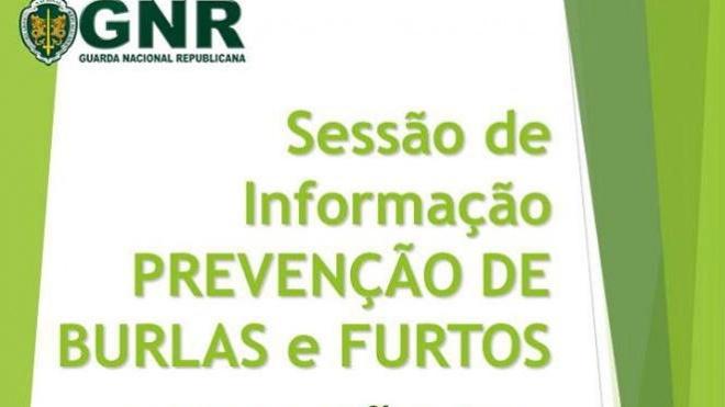 Sessões de informação sobre prevenção de burlas e furtos