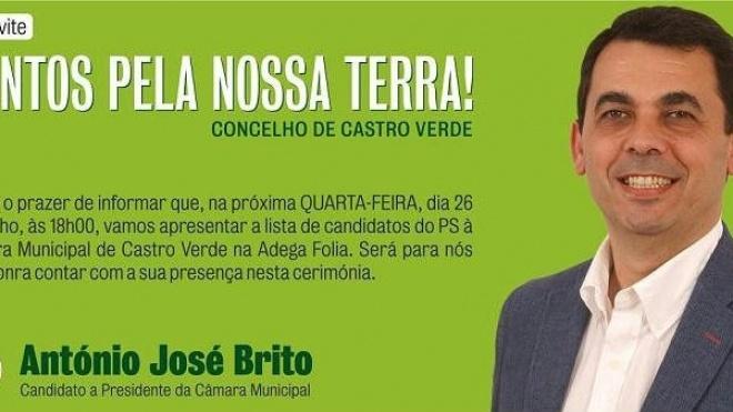 António José Brito apresentado como candidato do PS
