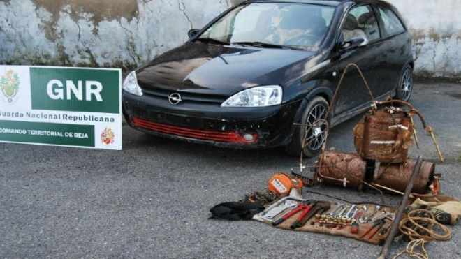 GNR deteve 2 indivíduos por furto de cobre