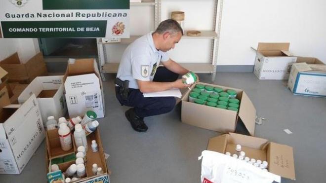 GNR apreende produtos fitofarmaceuticos