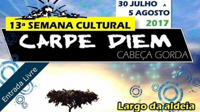 13ª Semana Cultural Carpe Diem continua hoje em Cabeça Gorda