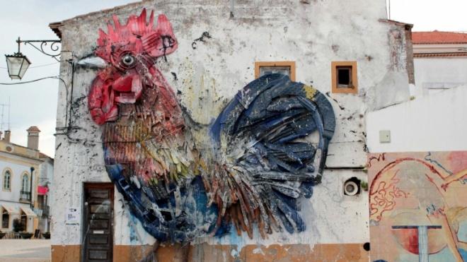 """Portu-galo está em Beja e é o 5º mural mais belo """"em todo o mundo"""""""