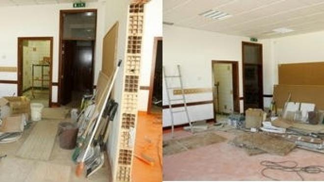 Obras no Centro Escolar de Santiago Maior