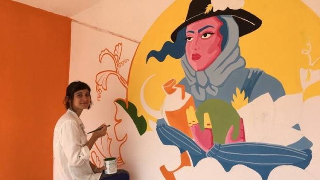 Abrigos de passageiros em Figueira de Cavaleiros decorados com Arte