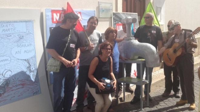 BE realizou ação em defesa da água pública