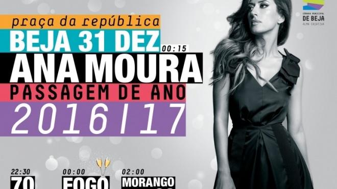 Ana Moura na despedida de 2016 em Beja