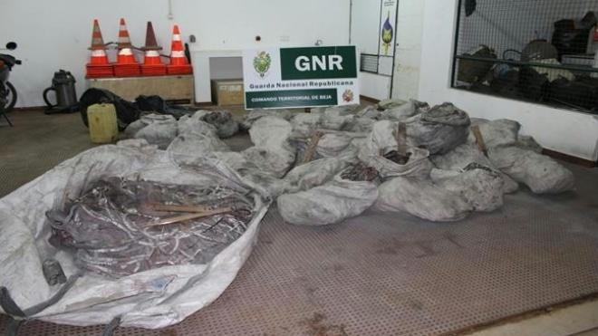 GNR recupera 2 toneladas de cobre furtado