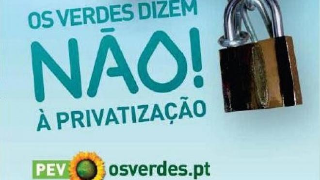 """""""Os Verdes"""" estão em Beja """"Contra a privatização da água"""""""