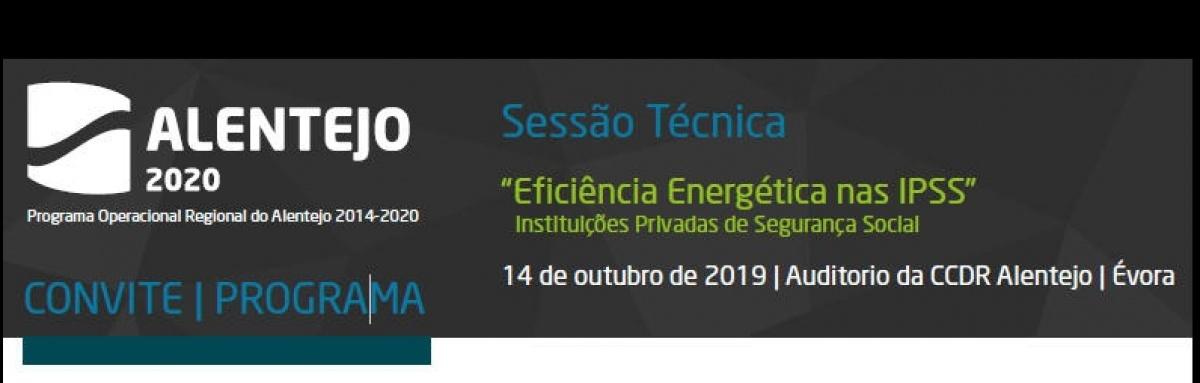 """CCDR Alentejo: sessão técnica """"Eficiência Energética nas IPSS"""""""