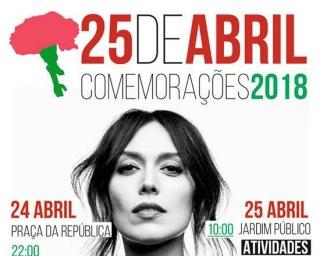Ana Bacalhau nas celebrações do 25 de Abril em Beja