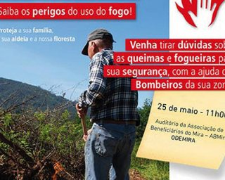 Acções de sensibilização sobre queimas e queimadas em Odemira