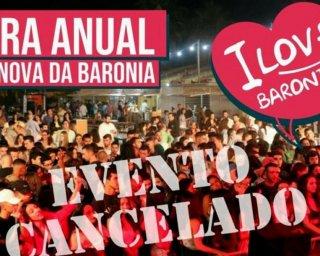 Feira de Vila Nova da Baronia cancelada