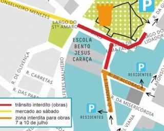 Beja: Implementação de percursos acessíveis interdita trânsito