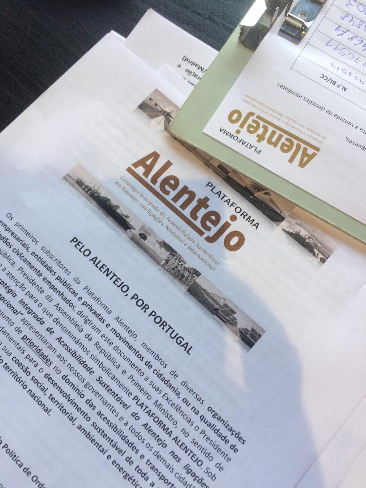 petição Plataforma Alentejo