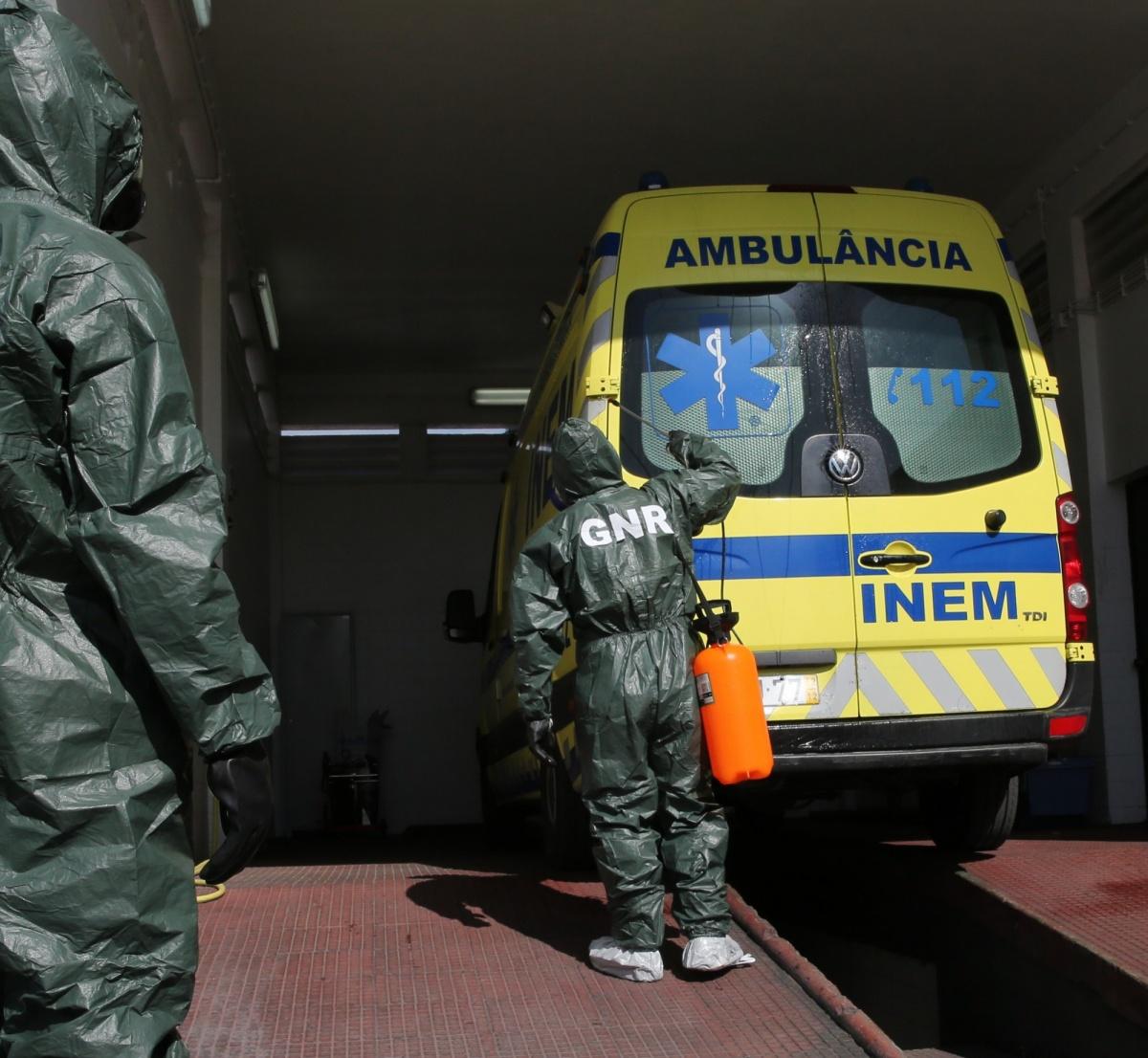 Descontaminação ambulância