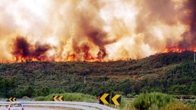 Incêndio na freguesia de Santa Vitória