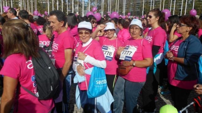 Serpa participou na Corrida Sempre Mulher