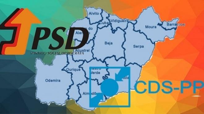 PSD e CDS com coligações autárquicas no distrito de Beja
