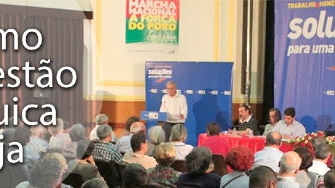 Jerónimo de Sousa elogia gestão autárquica de Beja