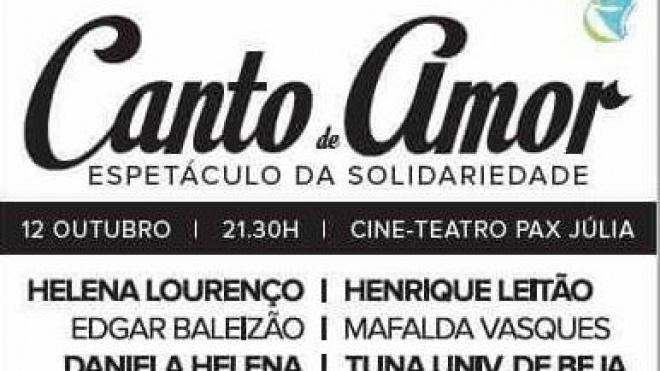 "Espetáculo de Solidariedade ""Canto de Amor"""