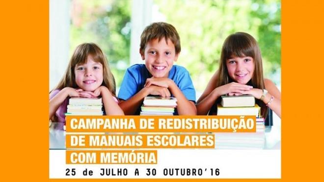Campanha de recolha e redistribuição de livros escolares