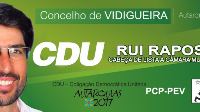 CDU revelou candidatos ao concelho de Vidigueira