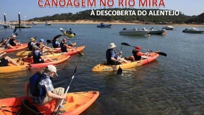 Treino aberto de canoagem em Odemira