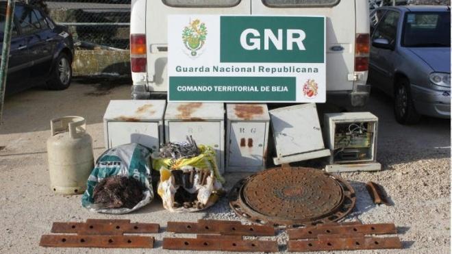 GNR de Beja apreende e recupera material furtado