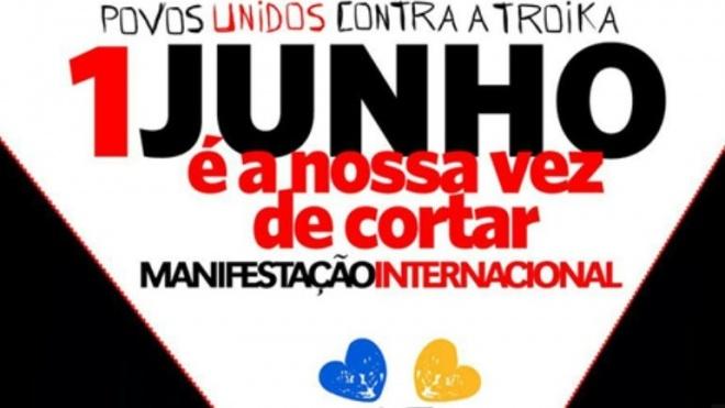 Beja adere a protesto internacional contra a troika