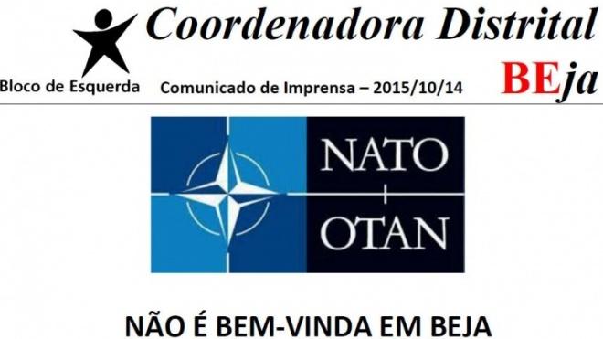 BE contra exercício da NATO em Beja