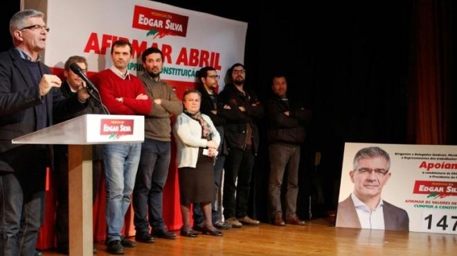 Sindicalistas do distrito ao lado de Edgar Silva