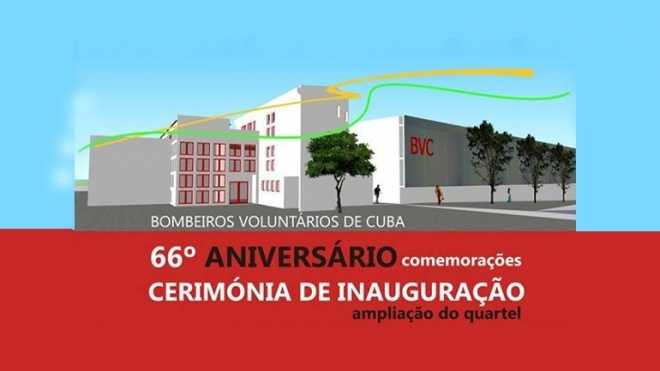 Quartel dos Bombeiros de Cuba é inaugurado domingo
