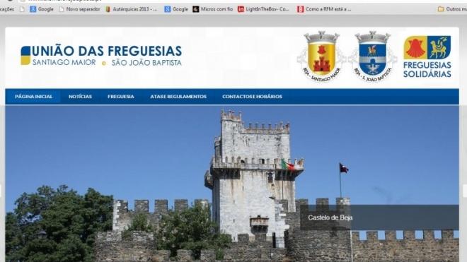 União de Freguesias com página na Net