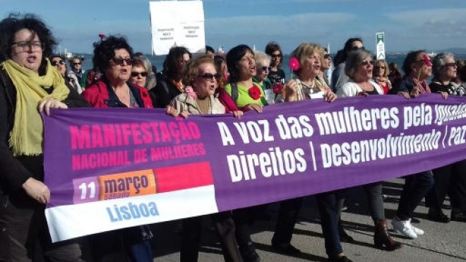Manifestação Nacional de Mulheres em Lisboa