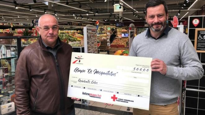 Intermarché de Beja doou 500 euros à Cruz Vermelha Portuguesa da cidade